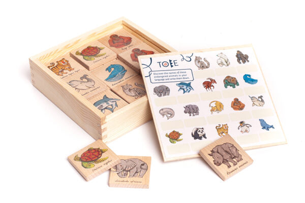 BAJO Wooden Memo Game - Endangered Animal