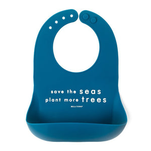 BELLA TUNNO Wonder Bib - Save the Seas - PinkiBlue