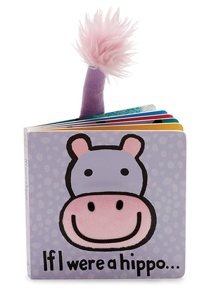 JELLYCAT Book If I Were A Hippo - PinkiBlue