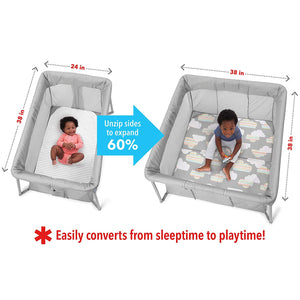 SKIP HOP Play To Night Expanding Travel Crib - PinkiBlue