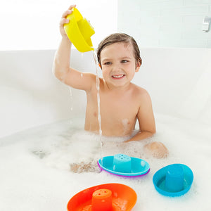 BOON Fleet Floating Boats Bath Toy - PinkiBlue