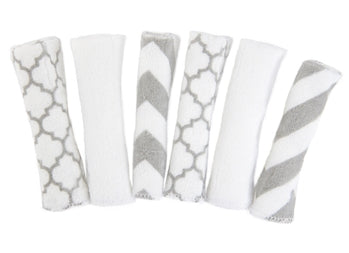 Kushies - KUSHIES Washcloths - 6pk - Available at Boutique PinkiBlue
