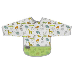 KUSHIES Cleanbib With Sleeves - PinkiBlue
