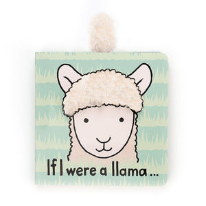 JELLYCAT Book If I Were A Llama - PinkiBlue