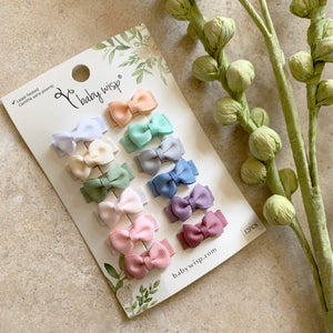 BABYWISP Snap Clips - 12 Pack - PinkiBlue