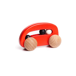 BAJO Wooded Toys Car With Beads - PinkiBlue
