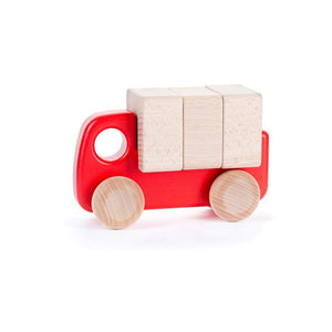 BAJO Wooded Toys Trucks With Blocks - PinkiBlue