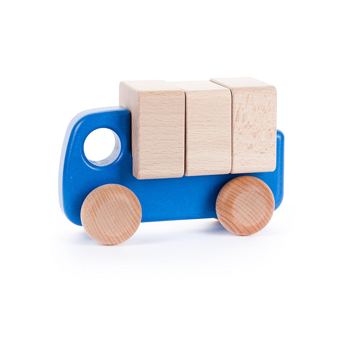 BAJO Wooded Toys Trucks With Blocks