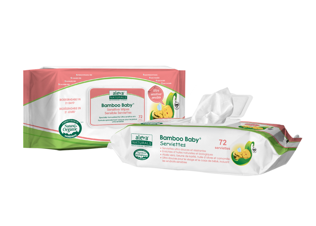 Aleva - ALEVA NATURALS Bamboo Baby Sensitive Wipes - Available at Boutique PinkiBlue