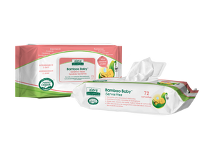 ALEVA NATURALS Bamboo Baby Sensitive Wipes - PinkiBlue