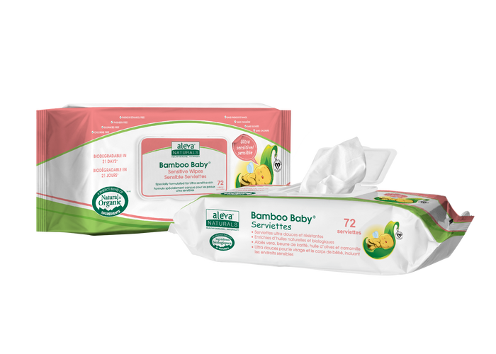 ALEVA NATURALS Bamboo Baby Sensitive Wipes