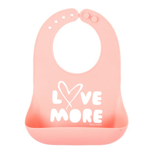 BELLA TUNNO Wonder Bib -Love More - PinkiBlue