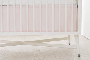 BOUTON JAUNE Bed Skirt - Pink Stripes - PinkiBlue