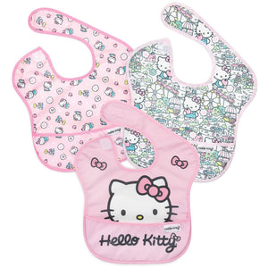 BUMKINS Hello Kitty SuperBib - 3 Pack - PinkiBlue
