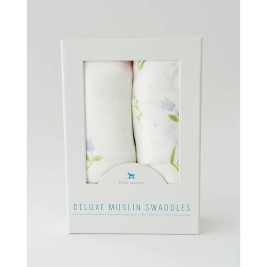 Little Unicorn - LITTLE UNICORN Deluxe Muslin Swaddle 2Pack - Available at Boutique PinkiBlue