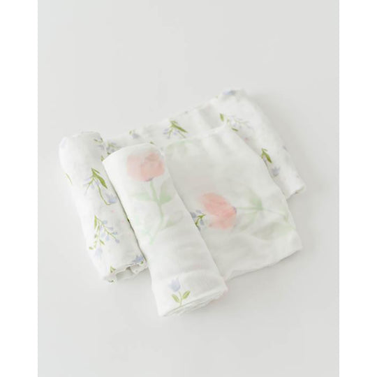 Little Unicorn - LITTLE UNICORN Deluxe Muslin Swaddle 2Pack - Boutique PinkiBlue