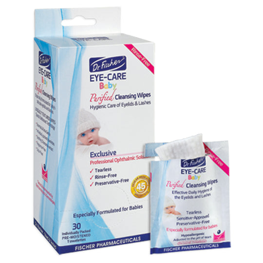 Dr. Fischer - DR. FISCHER Eye-Care Baby Cleansing Wipes 30pk - Available at Boutique PinkiBlue