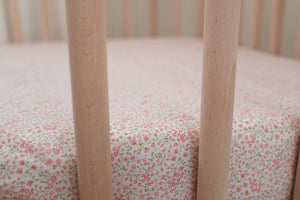 BOUTON JAUNE Fitted Crib Sheet - A La Folie - PinkiBlue