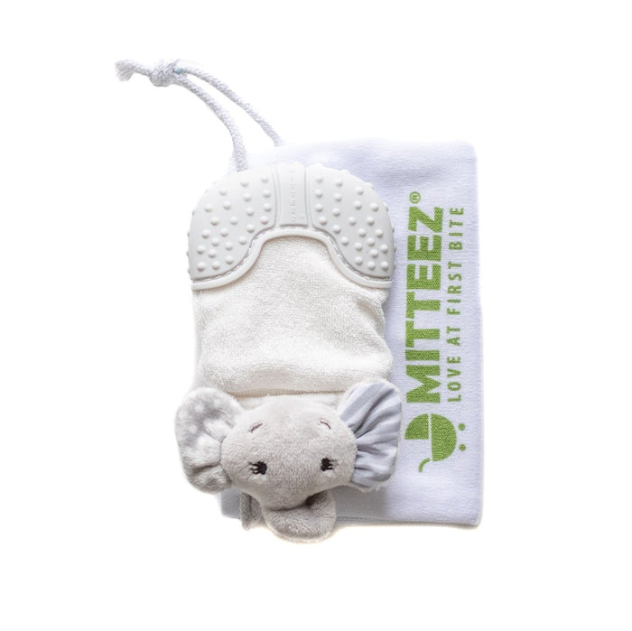 MITTEEZ Organic Teething Mitty and Wrist Wrap Rattle Toy