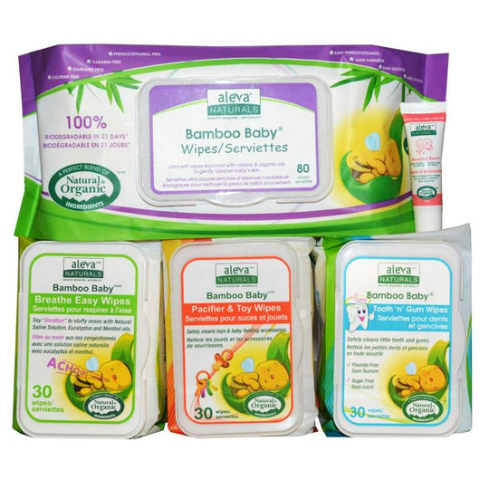 Aleva - ALEVA NATURALS Bamboo Wipes Gift Set - Available at Boutique PinkiBlue