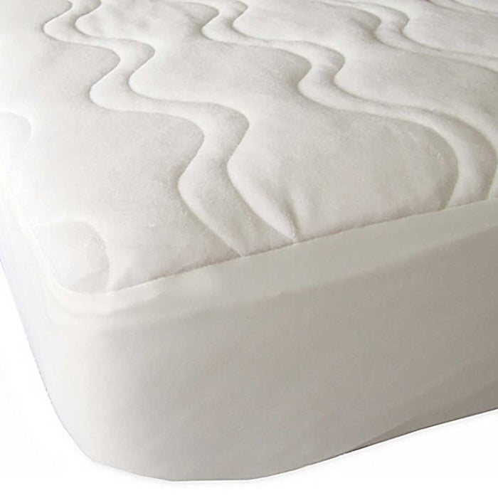 FORTY WINKS Crib Mattress Protector - Omni-Plush Organic Cotton Velour