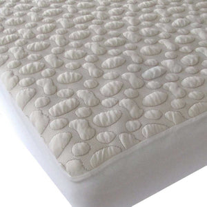 FORTY WINKS Crib Mattress Protector - Organic Cotton PebblePuff - PinkiBlue