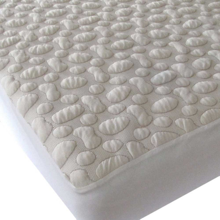FORTY WINKS Crib Mattress Protector - Organic Cotton PebblePuff
