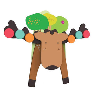 ORIBEL Vertiplay Wall Toy - Goofy Moose - PinkiBlue