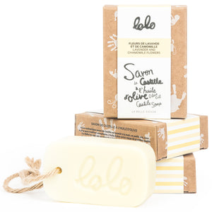 LOLO Olive Oil Castile Soap - Lavender & Camomile Flowers - PinkiBlue