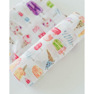 LITTLE UNICORN Cotton Muslin Swaddle Single - PinkiBlue