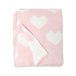 LIVING TEXTILES Chenille Baby Blanket - PinkiBlue