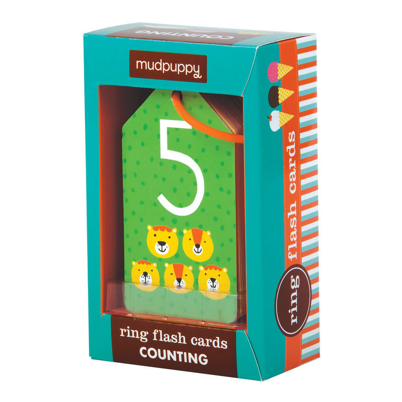 Mudpuppy - MUDPUPPY Ring Flash Cards - Counting - Available at Boutique PinkiBlue