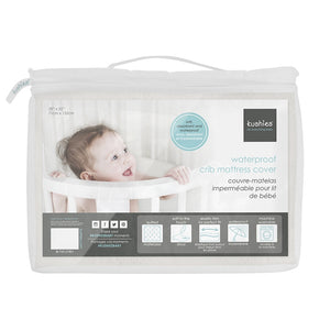KUSHIES Waterproof Crib Mattress Cover - PinkiBlue