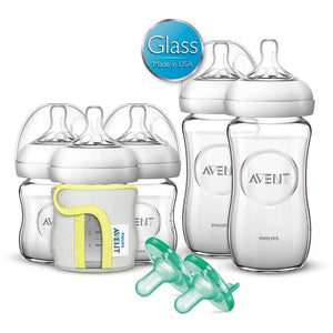 PHILIPS AVENT Natural Glass Starter Set - PinkiBlue