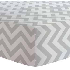 KUSHIES Flannel Crib Fitted Sheet - PinkiBlue