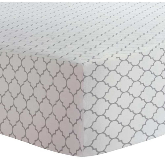 Kushies - KUSHIES Flannel Crib Fitted Sheet - Available at Boutique PinkiBlue