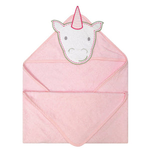 PERLIMPINPIN Hooded towel - Unicorn - PinkiBlue