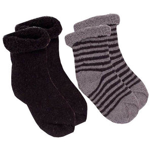 KUSHIES 2-Pack Newborn Socks - PinkiBlue