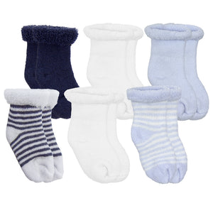 KUSHIES 6-Pack Newborn Socks - PinkiBlue