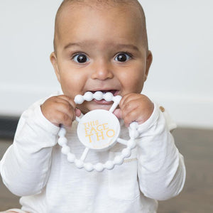 BELLA TUNNO Happy Teether - This Face Tho - PinkiBlue