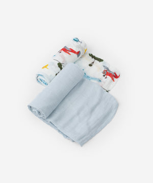 LITTLE UNICORN Deluxe Muslin Swaddle 2 Pack - PinkiBlue