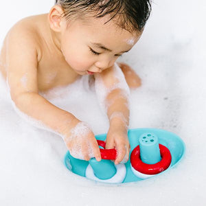 UBBI Boat And Buoys Bath Toy - PinkiBlue