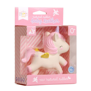 A LITTLE LOVELY COMPANY Unicorn Teething Toy - PinkiBlue