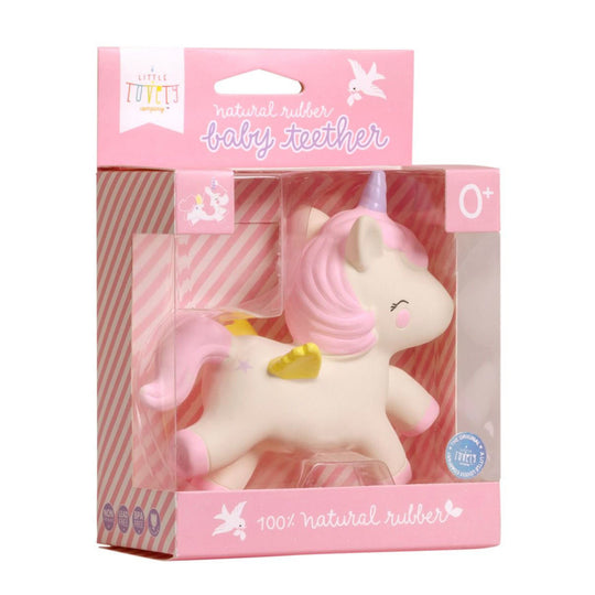 A LITTLE LOVELY COMPANY Unicorn Teething Toy