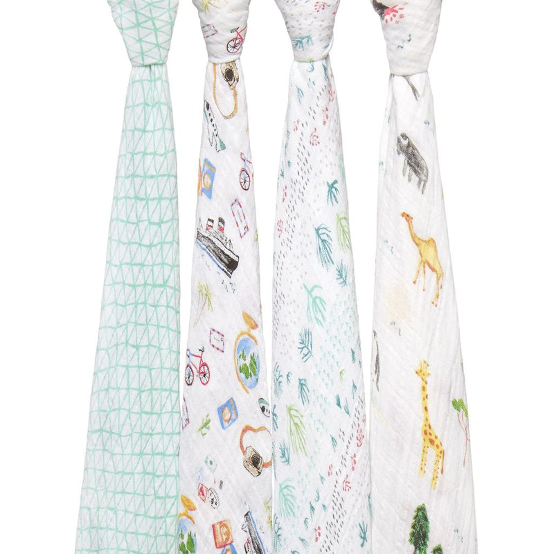 ADEN AND ANAIS Classic Swaddles 4-pack