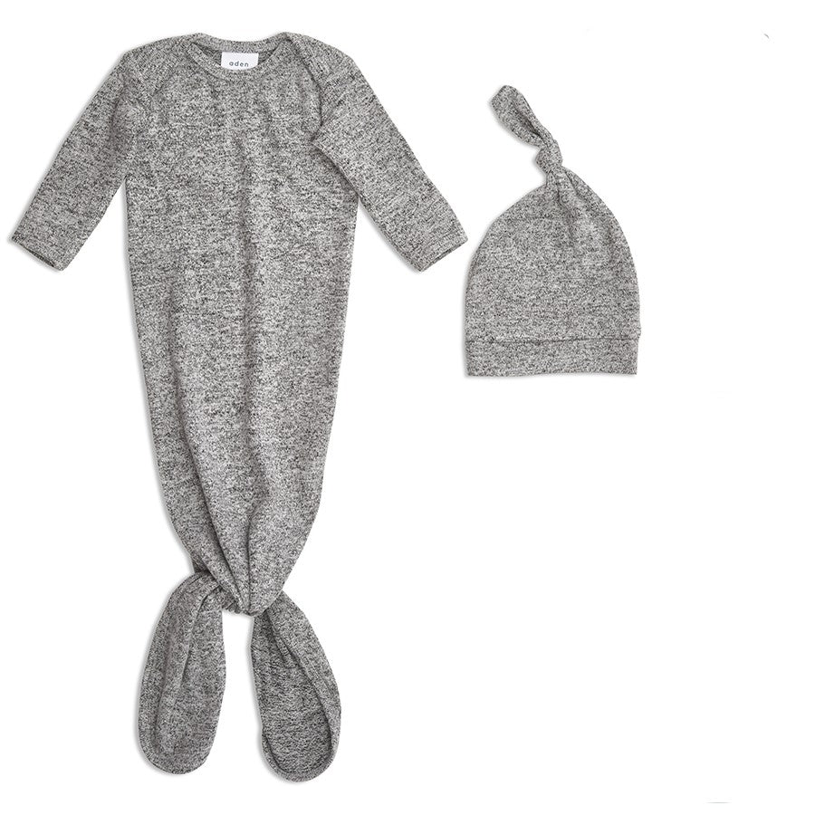 ADEN & ANAIS Snuggle Knit Hat & Gown Set