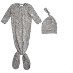 ADEN & ANAIS Snuggle Knit Hat & Gown Set - PinkiBlue