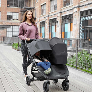 City Mini GT2 Double Stroller - Jet - PinkiBlue