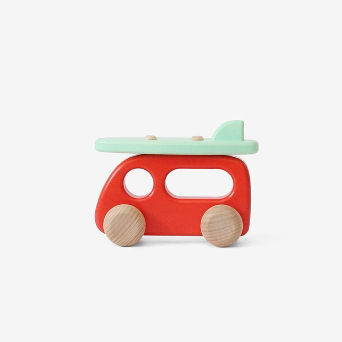 BAJO Wooden Toy - Camper With Surfboard