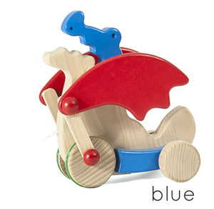 BAJO Wooded Toys Pull Dragon - PinkiBlue